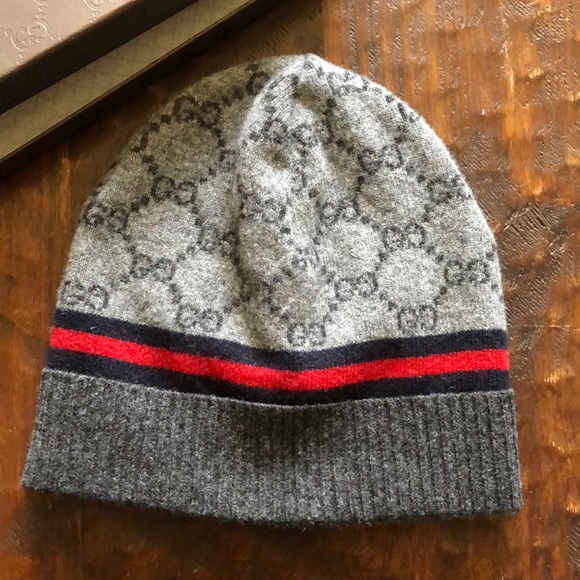 Gucci Other - Gucci Grey cashmere and wool beanie 20b2709f63a